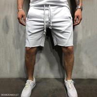 correr el sudor al por mayor-Gimnasio de fitness pantalones cortos de entrenamiento Sport Casual Pantalones de chándal corto para correr los hombres