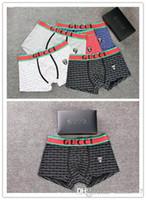 dessins de sous-vêtements hommes achat en gros de-Nouveau coton chaud Sous-vêtements Boxers Coton Doux Respirant Lettre Culottes Shorts Conception Tight Waistband hommes ghjty