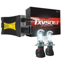 bombillas de niebla de xenón hid al por mayor-Txvso8 55W 9006 6000K Hid Kit Xenon Light Faros delanteros Niebla Hid Xenon Headlight Conversion Kit Bombillas