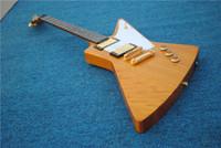 ingrosso chitarre elettriche rock-Nuova edizione personalizzata di alta qualità degli accessori alieni per chitarra elettrica in metallo rock explorer gold spedizione gratuita