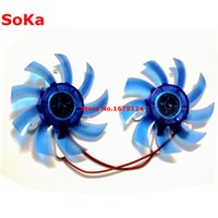 Wholesale 12v fan for cooling resale online - 2piece mm V Pin mm Mounting GPU VGA Video Graphics Cooler Card Cooling Fan For ASL Colorful As Replacement