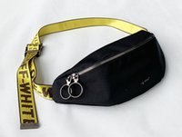 Wholesale flying phone for sale - Group buy 343423 New fw19 men s ow small ni bag off ow white chest bag mobile phone Fanny pack dead fly bag night ride bags disco dance