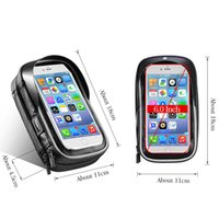 Wholesale bicycle phone holder case for sale – best ROCKBROS Bicycle Bag Inch Rainproof TPU Touch Screen Cell Bike Phone Bag Holder Cycling Handlebar Bags MTB Frame Pouch Case