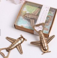 Wholesale multi helicopter resale online - Airplane Opener Helicopter Beer Bottle Openers Antique Alloy Plane Shape Bottle Opener Wedding Party Gift Kitchen Bar Tool GGA2521
