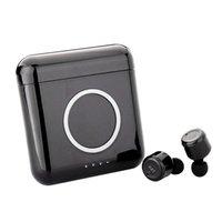 мобильные bluetooth-наушники оптовых-X4T TWS Bluetooth наушники Наушники Беспроводное зарядное устройство Box для мобильного телефона HiFi гарнитура с Micphone для Смартфонов