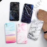 zurück gehäuse design großhandel-Neue design dicke tpu shell soft gehäuse rückseitige abdeckung telefon marmor design case für iphone xs max xr x 6 7 8 plus
