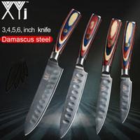 ferramentas japonesas para cozinhar venda por atacado-XYj VG10 Damasco Faca de Cozinha Conjuntos Paring Utilitário de Corte Chef Faca de 67 Camadas Japonês Damasco Cozinha Cozinhar Ferramentas + Capa