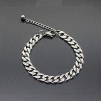 pulsera de plata para hombre al por mayor-5 mm 7 mm 9 mm Roca pulsera de plata para hombre del color del oro del acero inoxidable de la pulsera del acoplamiento del encintado de Cuba 2020 Accesorios pulsera de joyería