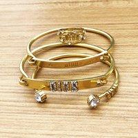ingrosso catene di diamanti di hip hop-Lusso ghiacciato fuori moda del diamante braccialetti dei braccialetti di alta qualità dell'oro Cuban Catena Gioielli Miami Bracciale Hip Hop