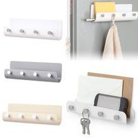 Wholesale post box wood resale online - 2019 New Key Holder Rack Post Organizer Letter Box Mail Home Door Hanger Wall Mount