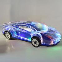 flash-sport-lautsprecher großhandel-Sportwagen Lichtblitz drahtlose Bluetooth-Lautsprecherkarte Sound-Auto-Modell Bass-Lautsprecher mit FM-TF-Kartensteckplatz