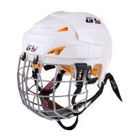 kask koruyucuları toptan satış-Oyuncu Hokey Yüz Shield için Cage ile Buz Hokeyi Kask Yumuşak EVA Liner