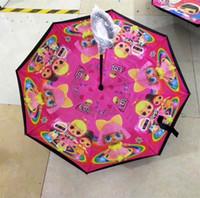 kinder regenschirm junge großhandel-Kinder umgekehrte Regenschirme C behandeln doppelte Schicht Inside Out Umbrella Boys Unicorm Überraschung Mädchen Reverse Folding Sunny Rainy Umbrella B72502