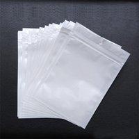 trava comida venda por atacado-Melhor Qualidade Transparente + branco pérola Plástico Poli OPP embalagem zíper Bloqueio de Varejo Pacotes de varejo de Jóias comida saco de plástico PVC