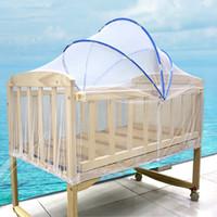 net baby cots venda por atacado-Cama de bebê Mosquito Inseto Net Tent Cama Berço Infantil Dobrável Berço Berço Netting Malha Net Tenda Do Bebê Crip