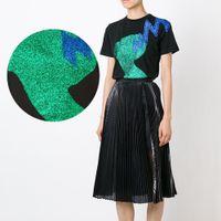 ko großhandel-0.5x2m Ein Blatt Glitter Wärmeübertragung Film Wärmepresse Kleidung Bügelbild Hut DIY Schneiden von selbst Verschiedene Muster Dekorative