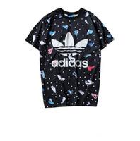 polka dot collar shirt toptan satış-2019 kısa kollu giyim skein logosu Ayakkabı Siyah puantiyeli ayakkabı mektubu yonca baskı polo t-shirt turn-down yaka pamuk rahat tshirt