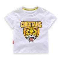 ingrosso ragazze della maglietta della tigre-2019 Moda Abbigliamento per bambini Ragazzo T-shirt a maniche corte Camicetta da ragazza Tiger Lion Pattern T-Shirt da ragazzo carino Abbigliamento sportivo Unisex