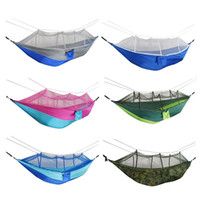 Wholesale swings sets resale online - Camping Portable Mosquito Net Hammock Tent Double Persons Hanging Swing Bed Set