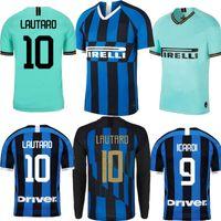 uniforme do futebol inter de milão venda por atacado-2019 Inter ICARDI Milan LAUTARDO casa 20º aniversário fora camisa de futebol verde 19 20 maillot de foot Camisa de uniformes de futebol 2020