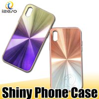 Wholesale mobile shine online – custom Shining Phone Cases Shockproof Gradient Fashion Mobile Phone Case Back Hard Cover Shell for iPhone XS Max XR Samsung Note S10 Plus