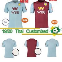 equipamento jersey venda por atacado-jerseys Thai 19 20 New Aston Villa Soccer Jersey Villa camisa de futebol CHESTER WESLEY Grealish HOGAN Kodja Homens equipamentos uniformes Maillots