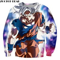 Wholesale anime tracksuit for sale - Mirage Goku Men Pullover Casual Boy Sweatshirts Anime Male Streetwear D print Drop Ship Tracksuits