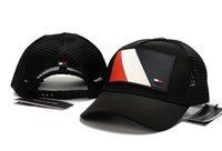örgü kırmızı kapaklar toptan satış-2019 Yeni moda tasarımcısı yüksek kaliteli örgü şapka 6 panel beyzbol şapkası ayarlanabilir şapka erkekler kadınlar için snabpack Siyah kırmızı donanma hip hop kapaklar