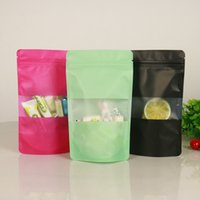 Wholesale zipper plastic gift bags for sale - Group buy Colourful Standup plastic bag with mawindow and zipper Fruit packaging Pouches Gift Dried