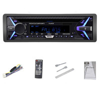 Wholesale mp3 player controller resale online - Freeshipping Universal Car Radio DVD Player Bluetooth CD VCD MP3 SD Card AUX Input Player with Remote Controller