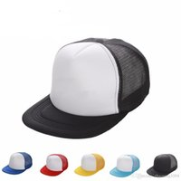 ingrosso cappelli snapbacks vuoti-Hip Hop Plain Trucker Cappellini vuote Cappelli Designer Snapbacks variabile a reticella per gli uomini donne Cappello per il sole 11 colori
