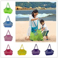 Wholesale boys toys for sale - 8colors Blanks Children Mesh Shell Sand Beach seashell Bag Kids Beach Toys Receive Bag Mesh Sandboxes Away Cross Body Mesh Bag
