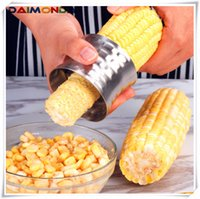 Wholesale corn grinder machine for sale - Group buy Creative kitchen tool Stainless steel peeling corn grinder corn planer corn planer threshing machine creative kitchen gadget