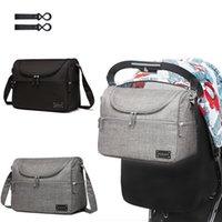 bebek bez çantası tasarımları toptan satış-3 Renkler Bezi Çanta Moda Mumya Annelik Nappy Çanta Bebek Seyahat Bez Çantalar Tasarım Hemşirelik Anne Için / Baba