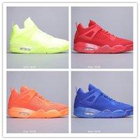 zapatos de gelatina de naranja al por mayor-2019 Venta Caliente 4 IV Fluorescente Verde Naranja zapatos de baloncesto de Los Hombres Para La Mejor Calidad Jelly Weaving Diseñador Deportes Zapatillas de Deporte Entrenadores 40-46