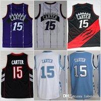 212d4380f Toronto New 15 Carter Raptors Vince Basketball Jerseys North Carolina Tar  Heels College Carter Jersey Vince Blue Black White Purple