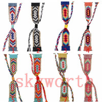 Wholesale braided watches resale online - For Apple Watch Strap Leather Braided Metal Strap Bands for iwatch bohemia Bracelets With fringe
