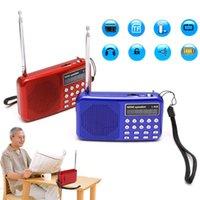 micro pack achat en gros de-1 PC Mini LCD Numérique Audio FM Radio Haut-parleur USB Micro SD Carte TF Lecteur de musique MP3
