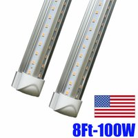 Wholesale fluorescent lights covers for sale - Group buy 45W Cooler Door FT T8 Led Tube Light m Integrated Double Rows SMD Led Fluorescent Tubes Light AC V Transparent Cover