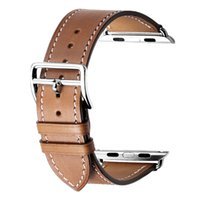 ingrosso orologio da melo degli uomini-vendita all'ingrosso H / M Leather WatchStrap Sostituisci per Iwatch Series1 Series2 Series3 4 Men Women per Apple Watch Band 44mm 40mm 38mm 42mm