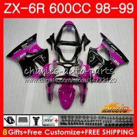 Wholesale ninja 636 black gold for sale - Group buy Body For KAWASAKI NINJA ZX R ZX R R ZX ZX600 CC NO CC ZX636 ZX ZX6R Fairing kit rose black hot