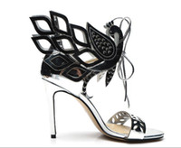 Wholesale office women cloths for sale - Group buy Summer women high heel sandals high heel patent leather cut out lace up gladiator sandals lady personality thin heel