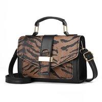ingrosso pelle di stampa zebra-Fashion Women Leopard Print Handbag Borsa a tracolla in pelle PU femminile Zebra Mini Designer Crossbody Travel Bolsa SS3527