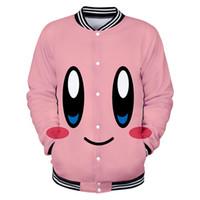 Wholesale character jackets for sale – winter Nostalgia Childhood ACT Game Kirby New D print Baseball uniform Men Women Harajuku Baseball Jackets clothes