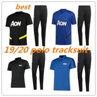Wholesale polo shirts sportswear resale online - New United POGBA RASHFORD Polo tracksuit Soccer shirts LUKAKU Polo Training suit Sportswear UNITED Kits Football Uniforms