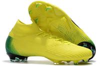 ingrosso scarpa nera cr7-Scarpe da calcio Mercurial Superfly VI 360 Elite FG Nero Lux Scarpe da calcio Neymar 12 Game Over C Scarpe da calcio Ronaldo Superfly CR7 Taglia 38-46 V