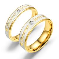 18k liebe für immer ringe großhandel-Neue Mode Paare Mode Ringe Exquisite Kristall Paare Crstal Ring Forever Love 4mm und 6mm Ring