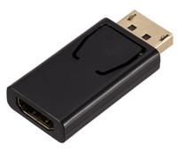dp videosu toptan satış-Yüksek kaliteli DisplayPort Erkek hdmi Kadın Video Dönüştürücü DP hdmi Adaptör Kablosu HDTV Monitör Projektör için Destek 1080 P 3D