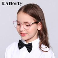 Wholesale blue spectacle frames for sale - Group buy Ralferty Anti Blue Ray Glasses Kids Child Girl Round Glasses Frame TR90 Computer TV Phone Myopia Optic Spectacle K28059