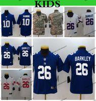 d114c01ff10 Youth New York Kids Giants Saquon Barkley Football Jerseys Cheap Eli  Manning 10 Saquon Barkley 26 Camo Salute to Service Stitched Shirts